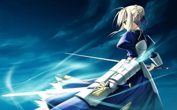 Konachan.com - 83586 armor blonde_hair fate_stay_night magic saber short_hair sword weapon