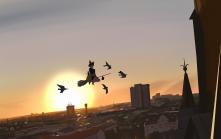 Konachan.com - 250024 animal bird building cat city jiji_(character) kiki majo_no_takkyuubin scenic snatti sunset