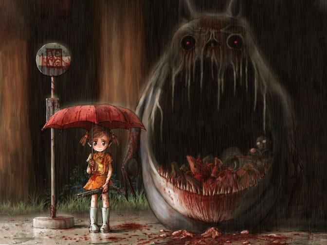 anime scary halloween-