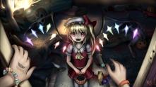 Konachan.com - 118587 blonde_hair blood flandre_scarlet halloween hweggi red_eyes tagme touhou vampire wings