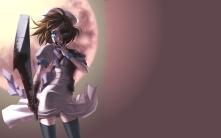 Konachan.com - 87797 blood blue_eyes dark higurashi_no_naku_koro_ni ryuuguu_rena weapon